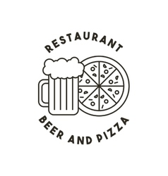 Beer and pizza restaurant menu vector