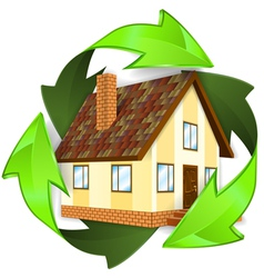 Ecological and energy saving concept vector