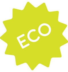 Eco product badge simple vector