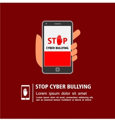 Stop cyber bullying campaign vector