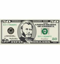 50 dollar bill vector
