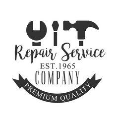 premium quality repair and renovation service vector image