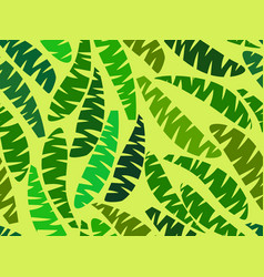 Seamless palm leaves tropical jungle summer vector