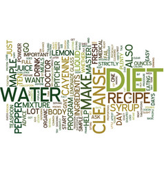 Master cleanse diet recipe keep it simple text vector