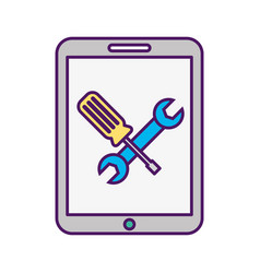 Smartphone device with tools vector