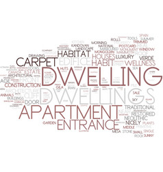 Dwelling word cloud concept vector