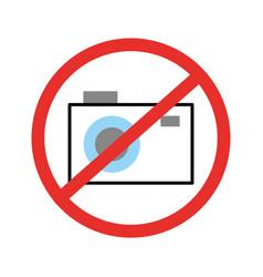 Forbidden to take photos isolated icon vector