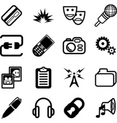 Network and computing icon vector