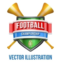 Label with vuvuzela for football sport competition vector