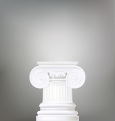 Architectural background  ionic column  d vector