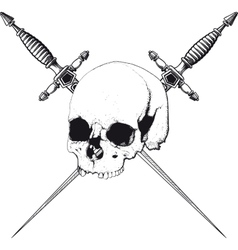Skull and dagger vector