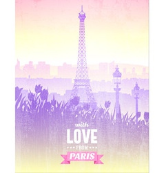 Poster with views of paris vector