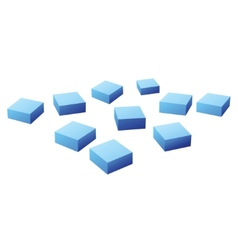 Many blue cubes vector