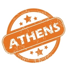 Athens round stamp vector