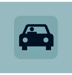 Pale blue car icon vector