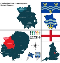 Cambridgeshire east of england vector