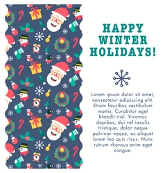 Christmas card wave vector