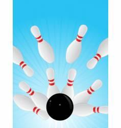 10 pin bowling vector image