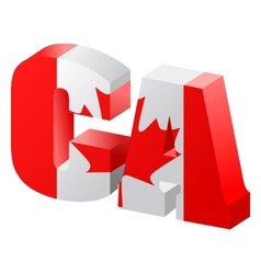 internet top-level domain of canada vector image