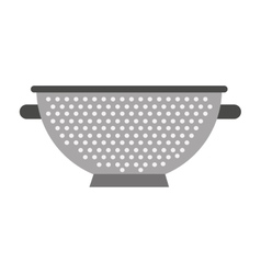 Kitchen utensil frieds pot isolated icon design vector