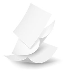Paper drop 02 01 vector image