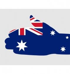Australian handshake vector