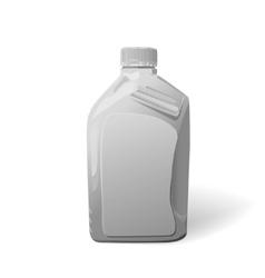 Blank white plastic canister for motor oil vector