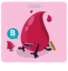 Blood vetor character vector