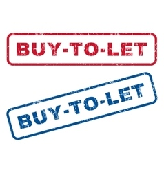 Buy-to-let rubber stamps vector