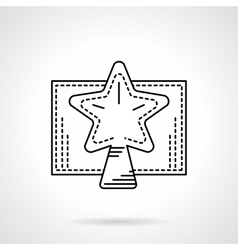 Christmas star black linear icon vector image vector image