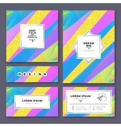 Collection cards invitation a4 poster business vector