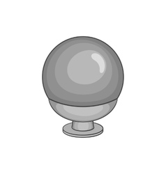 Crystal ball icon black monochrome style vector