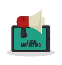 digital marketing e-commerce icon vector image