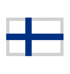 finland flag pixel art cartoon retro game style vector image vector image