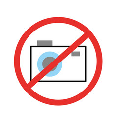 Forbidden to take photos isolated icon vector
