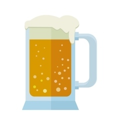 Glass of beer isolated on white mug or tankard vector