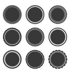 Gray Labels Temlates vector image vector image