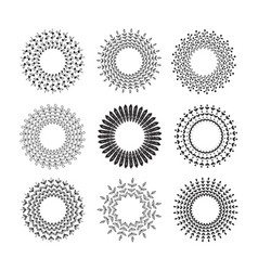 Hand drawn set of floral wreaths vector
