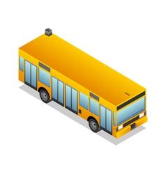 Isometric yellow bus vector