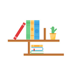 Library bookshelf room decor children bedroom vector