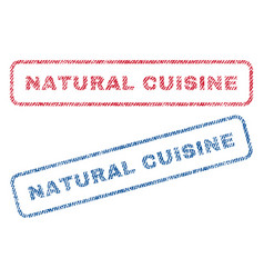 natural cuisine textile stamps vector image