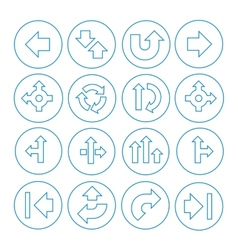 Set of Arrows Icons Isolated on White vector image