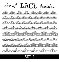 set of lace brushes vector image vector image