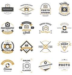Set of photography logo design templates vector