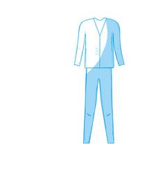 Silhouette cute man elegant wear design vector
