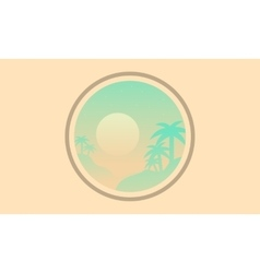 Silhouette of palm icon landscape vector image vector image