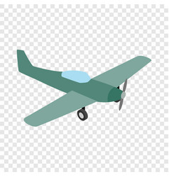 small plane isometric icon vector image vector image