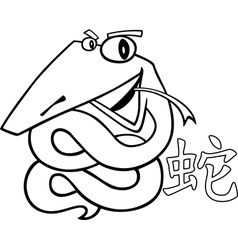 snake chinese horoscope sign vector image vector image