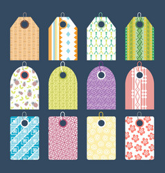 Stylish clothes price tag with art pattern sale vector
