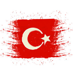symbol poster banner turkey map of turkey with vector image